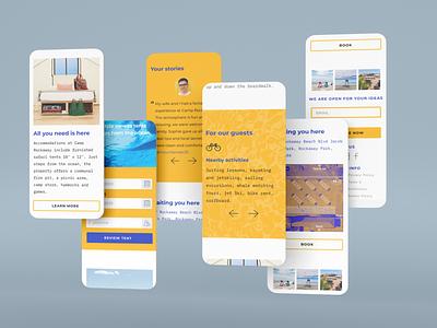 Promo Site for the basecamp (Mobile Version) moble version promo site landing designer concept uiux design web-design