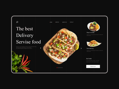 Food Website fastfood fast food ui ux uxui website web design ux design iran food web website concept uiux concept ui design