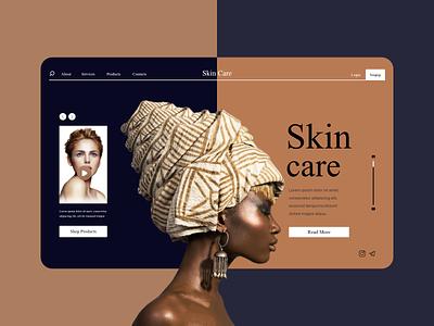 Skin Care concept design ux design ux  ui uxdesign skincare skin care skin ui  ux uidesign webdesign uiux website web design web uxui ux ui design iran ui concept