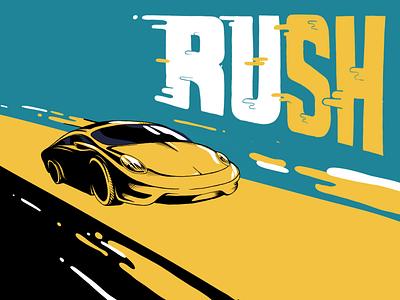 R U S H procreate app road car ipad procreate illustraion