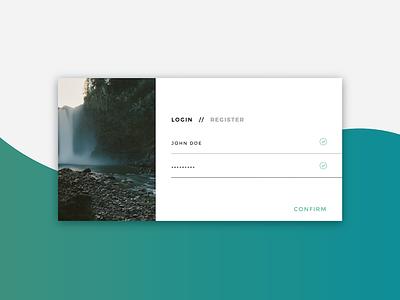 Login Form UI card animation flat web design web access ui form login