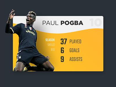Player Card UI card trends ux ui details bio info stats soccer football player