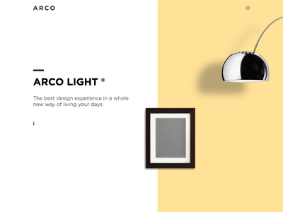 Lamp Website UI home page home front-end flat minimal bold design lamp ux ui web design website