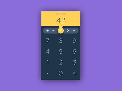 Calculator App UI keyboard math numbers app calc ui dailyui calculator