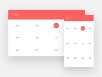 Material Design Calendar UI