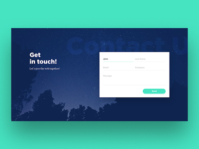 Get In Touch Form ui contact form