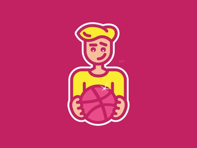 Dribbble's First Draft Shot By Nsk