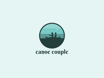 Canoe Couple Logo