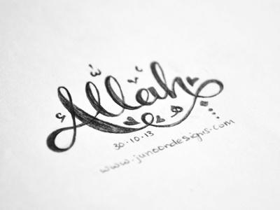 Allah II allah arabic inspired orthographic symbols islam lettering hand lettering script
