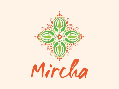 Mircha logo design indian cuisine inidan cooking class branding cooking peppers pattern illustration design logo junoon designs