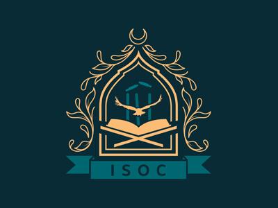 ISOC Crest filigree islam crest graphic art graphi design logo logo design