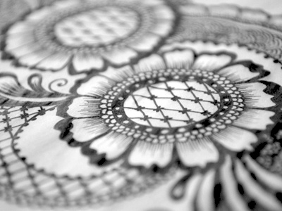 Floral Doodle 4 free hand drawing henna mehndi arabic ink junoon designs intricate flowers hand drawn floral pattern