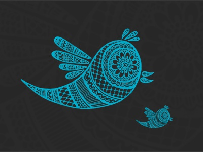 Twitter Henna Style icon mehndi henna henna art details twitter hand drawn