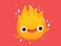 calcifer fires flames cute kawaii illustration flame fire ghibli calcifer