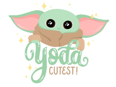 Yoda cutest letter calligraphy hand lettering design type lettering illustration typography mandalorian baby yoda the child star wars yoda