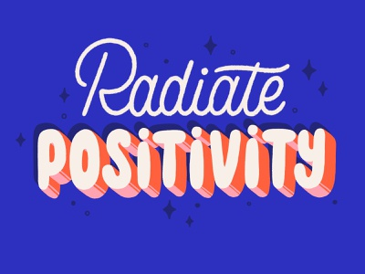 radiate positivity brush type letter hand drawn calligraphy hand lettering design type lettering illustration typography