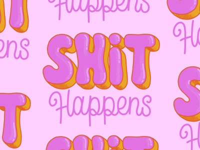 Shit happens hand lettered hand letter calligraphy hand lettering type illustration typography lettering shit happens invideo stickers gif sticker shit