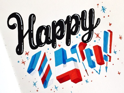 Happy July 14th! happy flag typography france bastille july 14th
