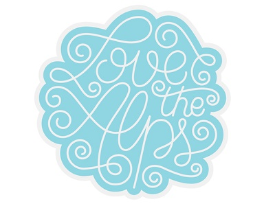 Love The Alps hand lettering hand lettered lettering type vector calligraphy patchgame patch typography snow mountains alps