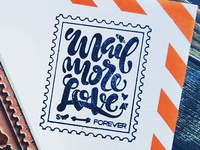 Mail More Love Stamp