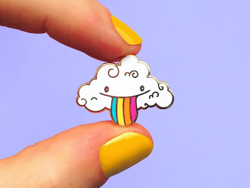 Pride Cloud Pin enamel pin pins emaille pride addict design kawaii gold happy cute love coffee buddy cloud pin