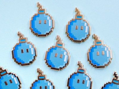 Pixel Bomb pins