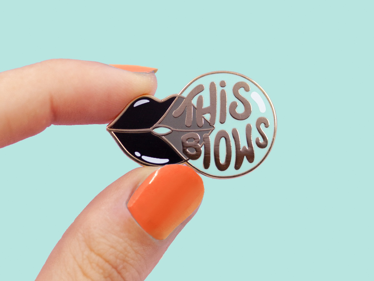This Blows vector illustration hand drawn design lipstick leguminous lettering typography this blows bubble chewing gum bisous gold kiss bubble gum pin hat pin enamel pin vector art goth lips