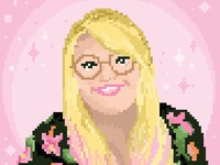 Lola Dubini Pixel portrait