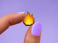 Fire pixel pin