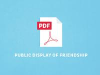 Pdf - Public Display of Friendship