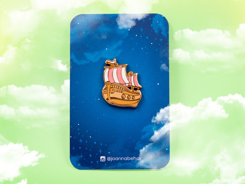 neverland clouds gold enamel pins enamel pin vector design peter pan boat illustration neverland