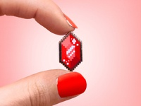 Pixel Gem Pin
