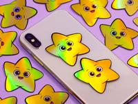 Happy Star Stickers
