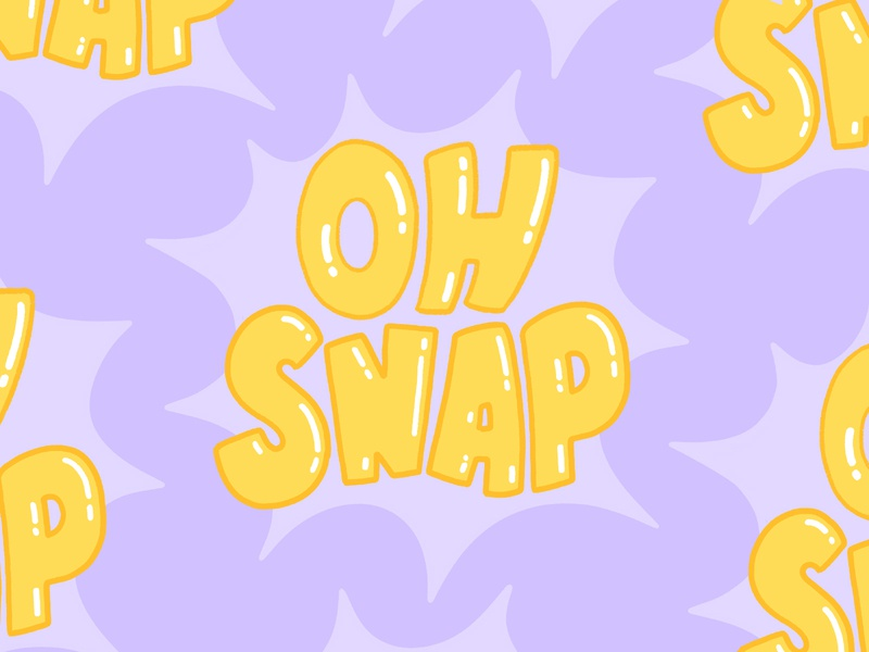 Oh snap oh snap snap hand lettered brush type illustrator hand drawn letter calligraphy vector hand lettering design type lettering illustration typography stickers sticker snapchat