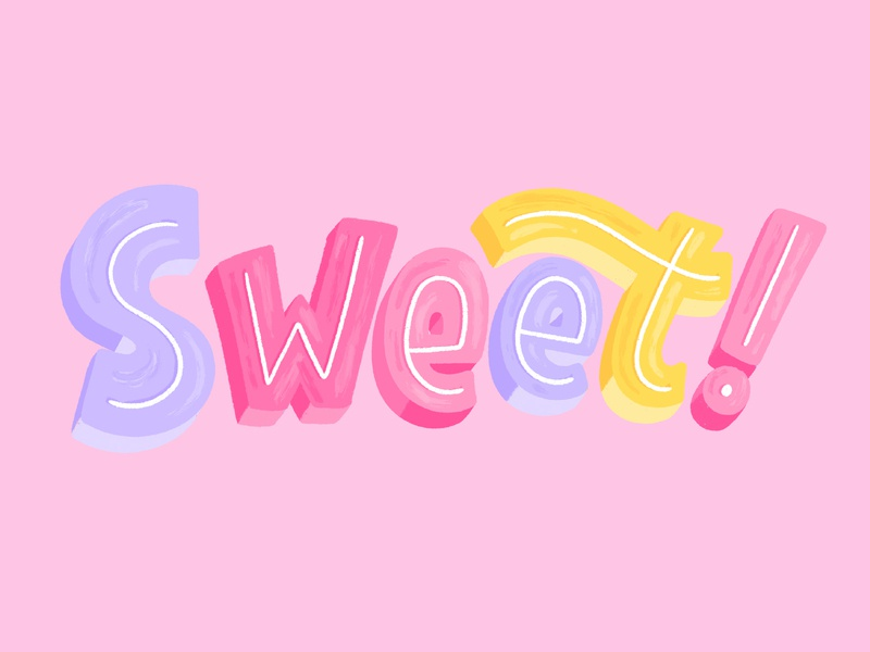 Sweet sweets sweet hand lettered brush type hand drawn letter calligraphy vector hand lettering design type lettering illustration typography stickers snapchat sticker sticker snapchat