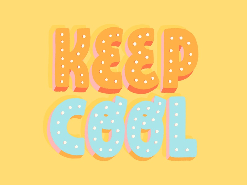 Keep Cool hand lettered brush type hand drawn letter calligraphy hand lettering design type lettering illustration typography stickers instagram sticker giphy gif keep cool