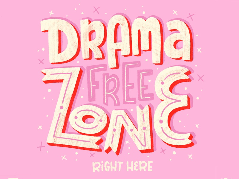 drama free zone hand letter letters zone drama brush type hand drawn letter calligraphy hand lettering design type lettering illustration typography