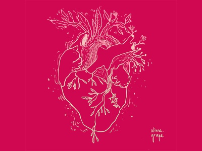Heart 1 design wacom digitalart graphic inspiring strawberry growth concept gradient contour lineart photoshop illustration