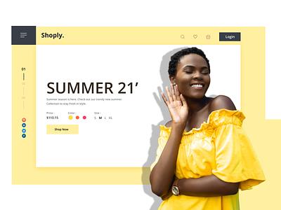 HELLO SUMMER!!!! lightcolor yellow summer website ux ui design