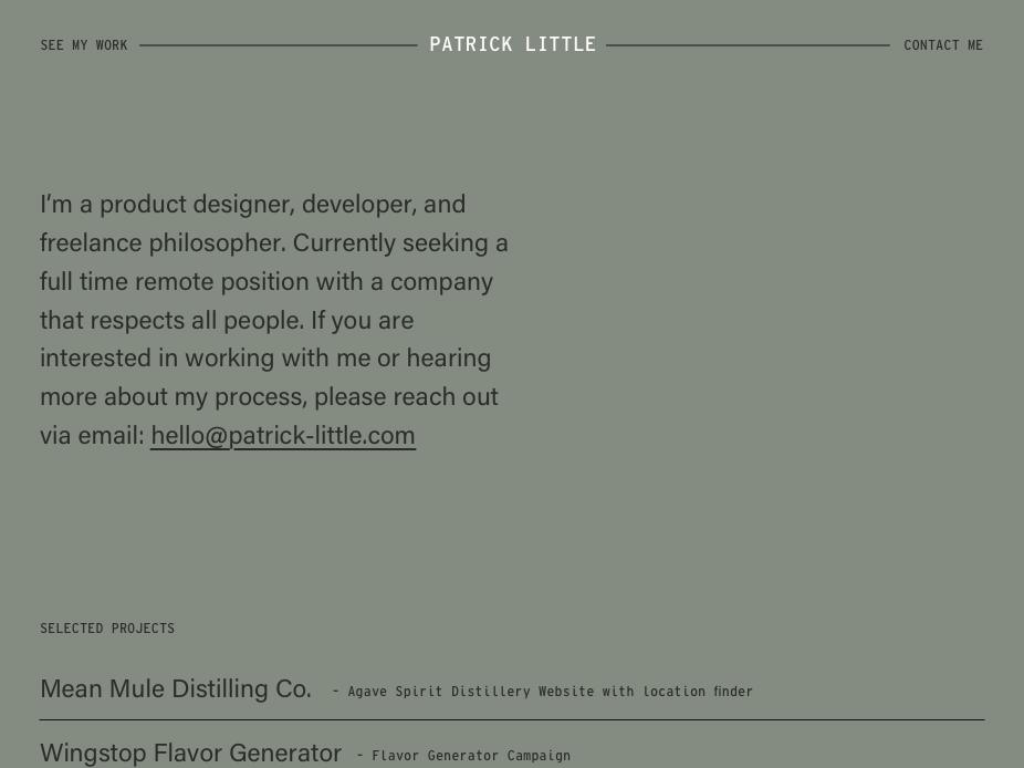 Personal Portfolio for hire gatsby react.js developer portfolio minimal website
