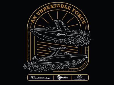 Teamwork Makes The Dream Work shirt logo water sunset boats vector branding illustration