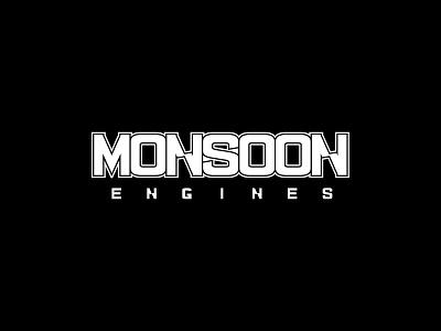 Malibu Monsoon Engines Logo icons vector branding boat logo waves sunset surf malibu illustration