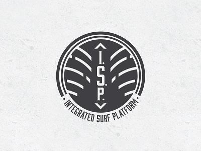 Integrated Surf Platform Logo 2 malibu logo typography boat engine illustration