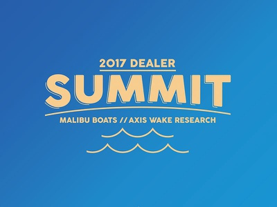Dealer Summit Logo summit axis malibu logo typography boat engine illustration