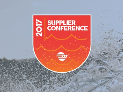 Supplier Conference Logo sunset wakeboarding malibu vector water icon illustrator