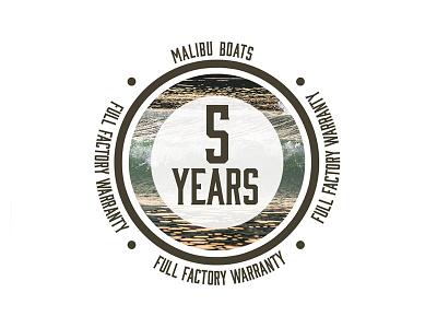 Malibu 5 Year Warranty Logo - Part 1 icons sunset malibu emblem waves surf vector illustration