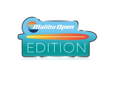 Malibu Open Edition Emblem - 3 icons sunset malibu boats emblem waves surf vector illustration