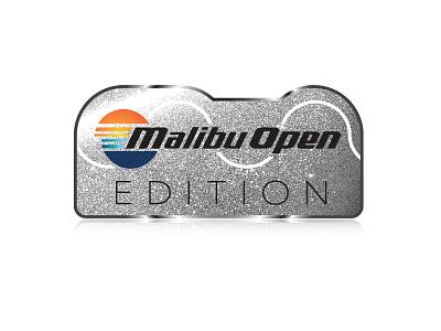 Malibu Open Edition Emblem - 4 drawing icons sunset malibu boats emblem waves surf vector illustration