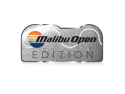 Malibu Open Edition Emblem - 4 drawing icons sunset malibu boats emblem waves surf vector illustration
