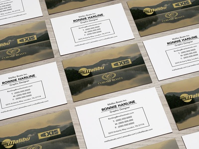 GOLD Business Card icons sunset malibu cards waves surf vector illustration